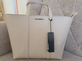 Karl Lagerfeld K/Sphynx Shopper Tasche beige nude Silber Neu schultertasche
