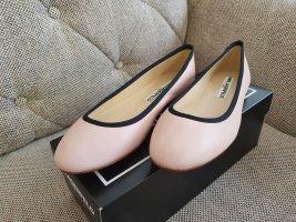 Karl Lagerfeld Leroux Ballerina Gr. 37 Neu Schuhe Leder rosa schwarz Halbschuhe