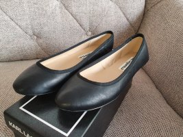 Karl Lagerfeld Leroux Ballerina Gr. 37 Neu Schuhe Leder schwarz Halbschuhe