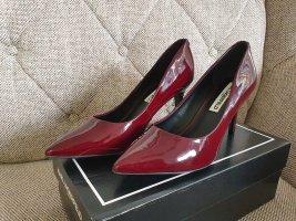 Karl Lagerfeld Royal Pump Gr. 37 Bordeaux Lackleder stiletto high heels