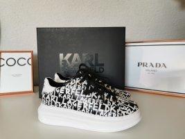 Karl Lagerfeld Sneaker con tacco bianco-nero