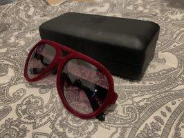 Karl Lagerfeld Lunettes carées noir-bordeau nylon