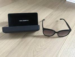 Karl Lagerfeld Okrągłe okulary przeciwsłoneczne czarny-biały