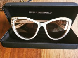 Karl Lagerfeld Okulary motylki biały-złoto