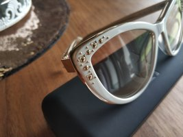 Karl Lagerfeld Occhiale a farfalla bianco-oro
