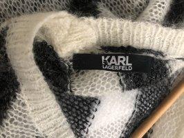 Karl Lagerfeld Abito midi nero-crema