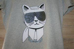Karl Lagerfeld T-Shirt Katze Casual-Look