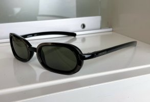 Karl Lagerfeld Oval Sunglasses black-silver-colored