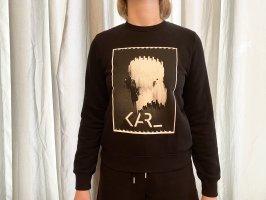 Karl Lagerfeld Maglione oversize nero Cotone