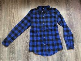 Karohemd blau schwarz kariert Bluse neu Holzfällerhemd