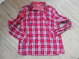 Street One Geruite blouse rood-donkerblauw