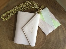 Ted baker Custodie portacarte rosa pallido-verde pallido Pelle