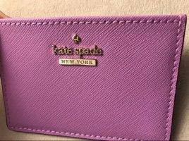 Kate Spade Tarjetero violeta-color plata Cuero
