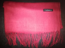 Cashmere Écharpe en cachemire rouge-rouge foncé cachemire
