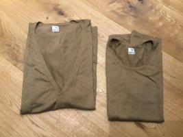 Brigitte von Boch Knitted Twin Set light brown-beige cashmere