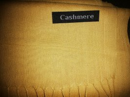 Cashmere Écharpe en cachemire brun sable-jaune