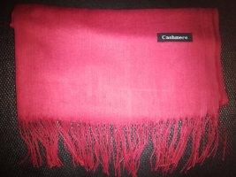 Cashmere Écharpe en cachemire rouge foncé-rouge carmin cachemire