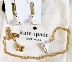 Kate Spade Halskette gold mit Anhänger weißer Schwan