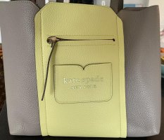 Kate Spade Shopper silver-colored-pale green leather