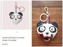 Kate Spade Taschenanhänger im Panda Design mit Spiegel neu!