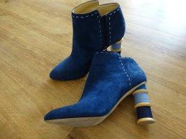 Katy Perry echt Leder Boots crazy Absatz 40 blau neuw letzte Reduzierung