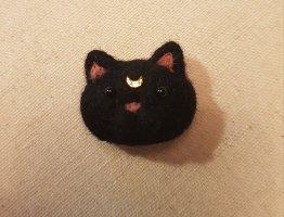 Katzen Brosche 'Luna'