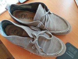 s.Oliver Zapatos de marinero marrón grisáceo-marrón claro Cuero