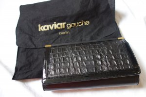 kaviar gauche berlin schwarz Clutch Tasche Abend Croc Muster