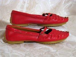 Kayla Bailarinas con tacón Mary Jane rojo