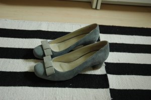 Loafer grigio Scamosciato