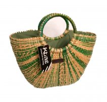 Basket Bag sand brown-green grey