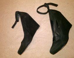 5th Avenue Escarpin compensé noir cuir
