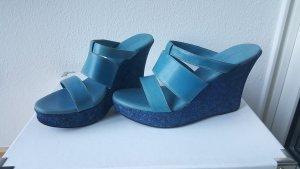 Keil - Sandalen blau