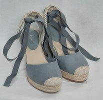 Keil Sandaletten in Blau/Beige Gr. 36 - Neu
