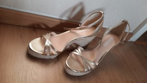 Mango Wedge Sandals gold-colored