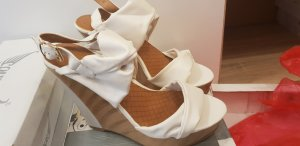 Wedge Sandals light brown-natural white