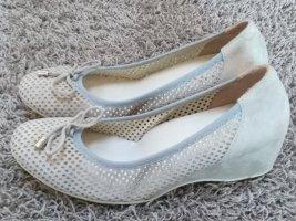 Ballerina's met kant lichtgrijs