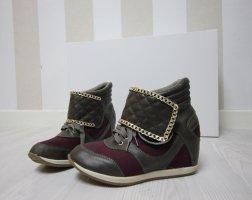 Wedge Sneaker carmine-grey brown