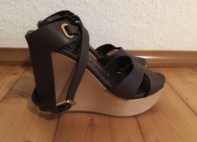 Ralph Lauren Wedge Sandals beige-taupe leather