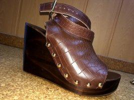 H&M Sandale d'extérieur brun foncé bois