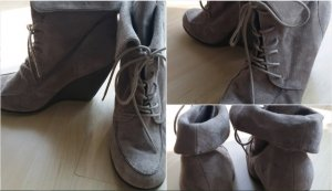 Reserved Wedge Booties sand brown
