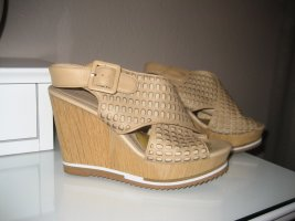 Bruno Premi Wedge Sandals sand brown-beige leather