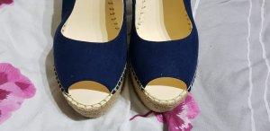 Buffalo London Wedge Sandals blue