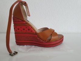 Sandalias de tacón alto color bronce