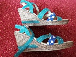 Sandalias de tacón con plataforma multicolor