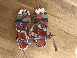 Catwalk Platform Sandals multicolored leather