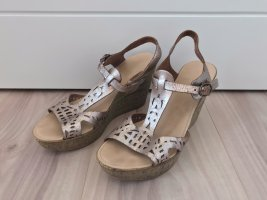Cox Wedge Sandals rose-gold-coloured-brown