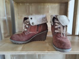 s. Oliver (QS designed) Wedge Booties light brown-brown