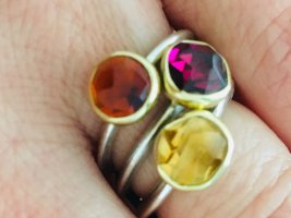 Keine Thomas Sabo Massenware;)/ Juwelierstück, Goldschmiedearbeit Mykonos Ring, Edelsteine, Silber, vergoldet