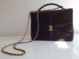 Kelly Bag Vintage Echt Kroko Krokodil Tasche Luxus Handtasche Classic
